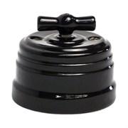 """Ретро выключатель керамический, Черный, """"GRANDE"""" KGSw1-K04"""