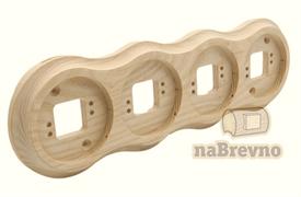 Рамка 4-местная натуральная Версаль naBrevno RV4-0