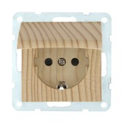 Розетка Сосна с крышкой с з/к и защитными шторками LK60 LK STUDIO 863425