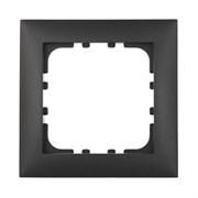 Рамка пластиковая 1-постовая черная LK60 LK STUDIO 864108