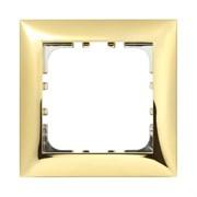 Рамка пластиковая 1-постовая золото LK60 LK STUDIO 864116
