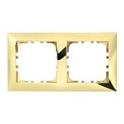 Рамка пластиковая 2-постовая золото LK60 LK STUDIO 864216