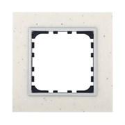 Рамка из декоративного камня (белый мрамор) 1-постовая LK60 LK STUDIO 864189
