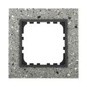 Рамка из декоративного камня (серый гранит) 1-постовая LK60 LK STUDIO 864179