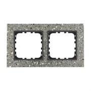 Рамка из декоративного камня (серый гранит) 2-постовая LK60 LK STUDIO 864279