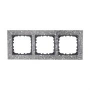 Рамка из декоративного камня (серый гранит) 3-постовая LK60 LK STUDIO 864379