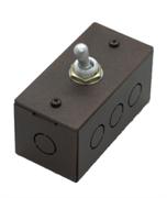 Выключатель  однотумблерный Состаренный метал Villaris-Loft 824122-1ТВ