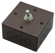 Выключатель  однотумблерный Состаренный метал Villaris-Loft  828222-1ТВ