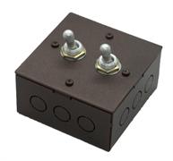 Выключатель  2-х тумблерный Состаренный метал Villaris-Loft  828222-2ТВ
