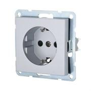 Розетка с з/к с защитными шторками (серебро) LK80 LK STUDIO 843203