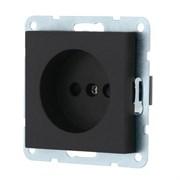 Розетка без з/к с защитными шторками (черная) LK80 LK STUDIO 843308
