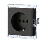 Розетка с з/к без защитных шторок (черная) LK80 LK STUDIO 843108