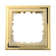 Рамка пластиковая 1-постовая золото LK80 LK STUDIO 894116