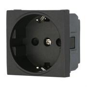 Розетка с з/к с защитными шторками черный LK45 LK STUDIO 851408