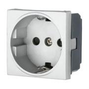 Розетка с з/к с защитными шторками серебро LK45 LK STUDIO 851403