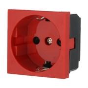 Розетка с з/к с защитными шторками для выделения чистого питания красный LK45 LK STUDIO 851107