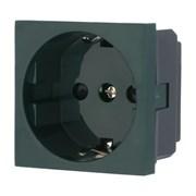 Розетка с з/к с защитными шторками для выделения чистого питания зеленый LK45 LK STUDIO 851119