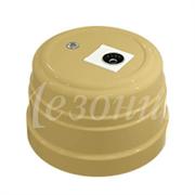 Розетка пластиковая ретро TV (SAT) Песочное золото Мезонин GE30321-32