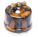 Выключатель ретро, поворотный, Экзотик Salvador OP11EX для наружного монтажа
