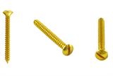 Саморез (2 шт.) для выключателей и распредел. коробок цвет Золото BIRONI