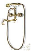 Смеситель для ванной с душем бронза