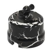 Выключатель Черный Мрамор Lindas340-BM