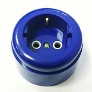 Розетка ретро пластиковая Синяя INTERIOR ELC.