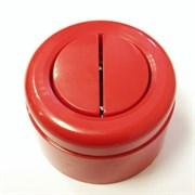 Выключатель ретро пластиковый 2-х клавишный Красный