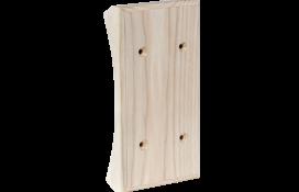 Вертикальная двойная накладка на бревно Сосна  naBrevno