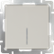 Выключатель одноклавишный с подсветкой (слоновая кость) WL03-SW-1G-LED-ivory - фото 11320