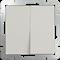 Выключатель двухклавишный проходной (слоновая кость) WL03-SW-2G-2W-ivory - фото 11322