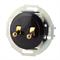 Выключатель 2кл, тумблерный Vintage 882304-1, Черный/Золото LK STUDIO  882305-1