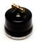 Выключатель ретро, поворотный Черный Salvador OP11BL для наружного монтажа - фото 4026