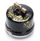 Выключатель ретро, поворотный, 2-х позиц. Черный с золотом Salvador OP11BL.GD для наружного монтажа - фото 4038