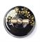 Выключатель ретро, поворотный, 2-х позиц. Черный с золотом Salvador OP11BL.GD для наружного монтажа - фото 4039