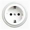Розетка с заземлением и шторками Salvador OP12WT для наружного монтажа - фото 4057