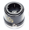 Розетка с заземлением и шторками Черная с золотом Salvador OP12BL.GD для наружного монтажа  - фото 4081