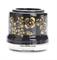 Розетка с заземлением и шторками Черная с золотом Salvador OP12BL.GD для наружного монтажа  - фото 6515